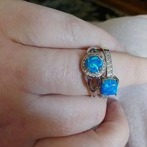 Moonstone Ring Set